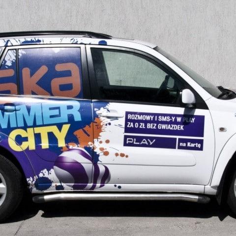 Oklejenie samochodu dla firmy Play