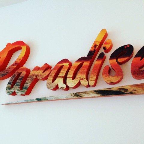Litery 3D dla firmy Paradise