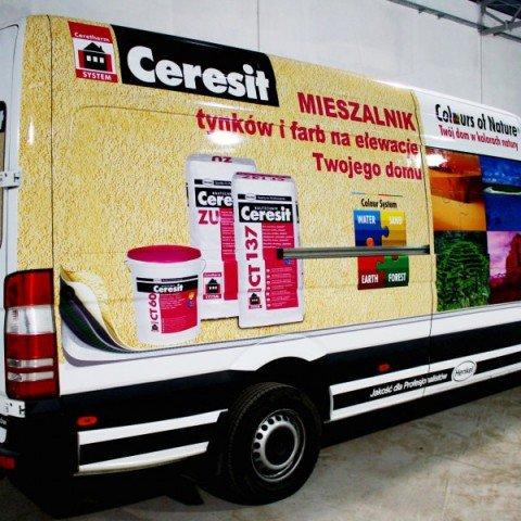 Oklejanie pojazdu dla firmy Ceresit