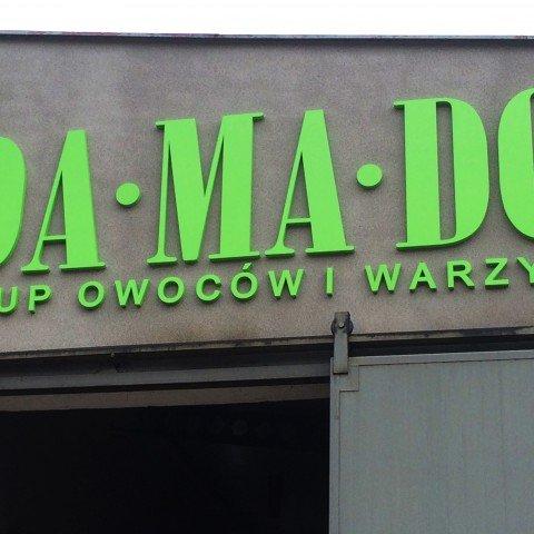 Litery 3D dla firmy Damado