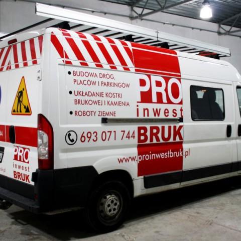 Oklejanie samochodu dla firmy Proinwest Bruk