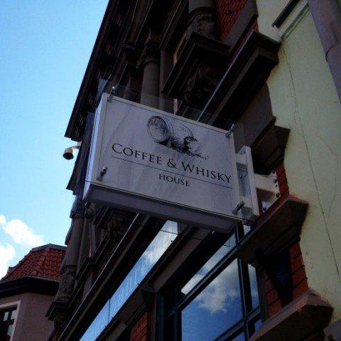 Kaseton podświetlany dla firmy Coffee & Whisky House