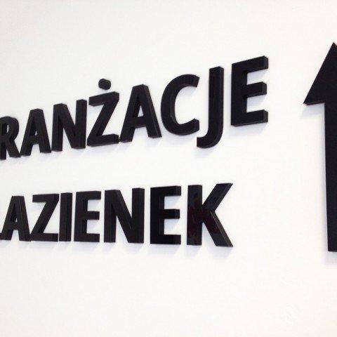 Litery 3D dla firmy Aranżacje Łazienek