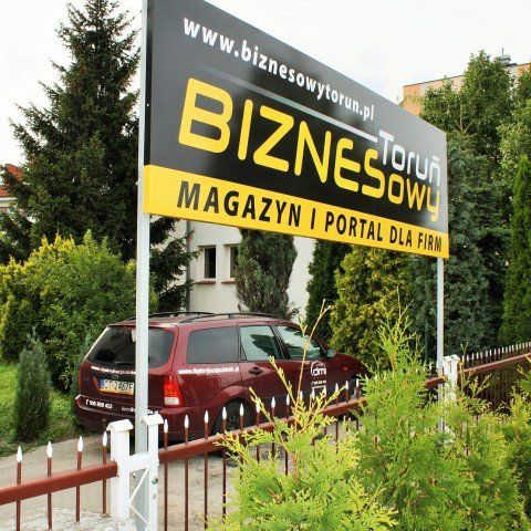 Tablica reklamowa dla firmy Biznesowy Toruń