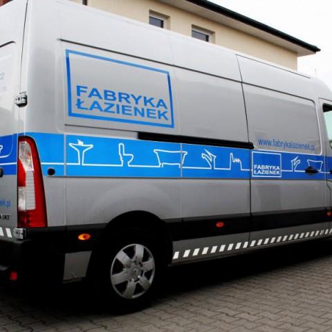 Oklejanie samochodu dla Fabryki Łazienek