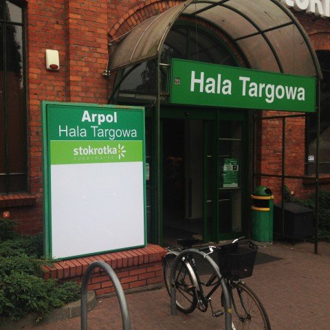 Tablica reklamowa Hala Targowa dla supermarketu Stokrotka